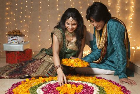 Rangoli motivi prave se kao dobrodoslica boginji Lakshmi
