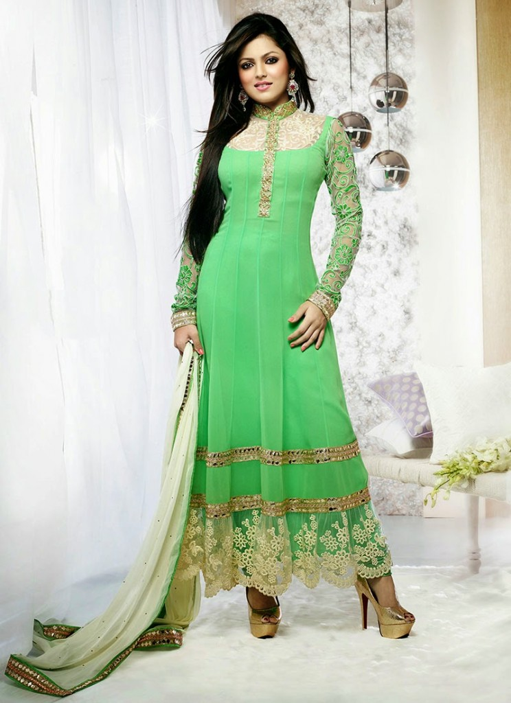 Aamna Sharif and drashti dhami In Latest anarkali suit designs 2013 (2)