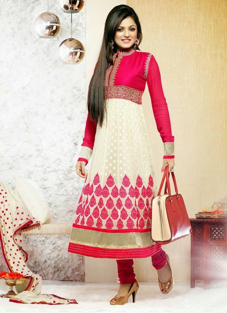 Aamna Sharif and drashti dhami In Latest anarkali suit designs 2013 (6)